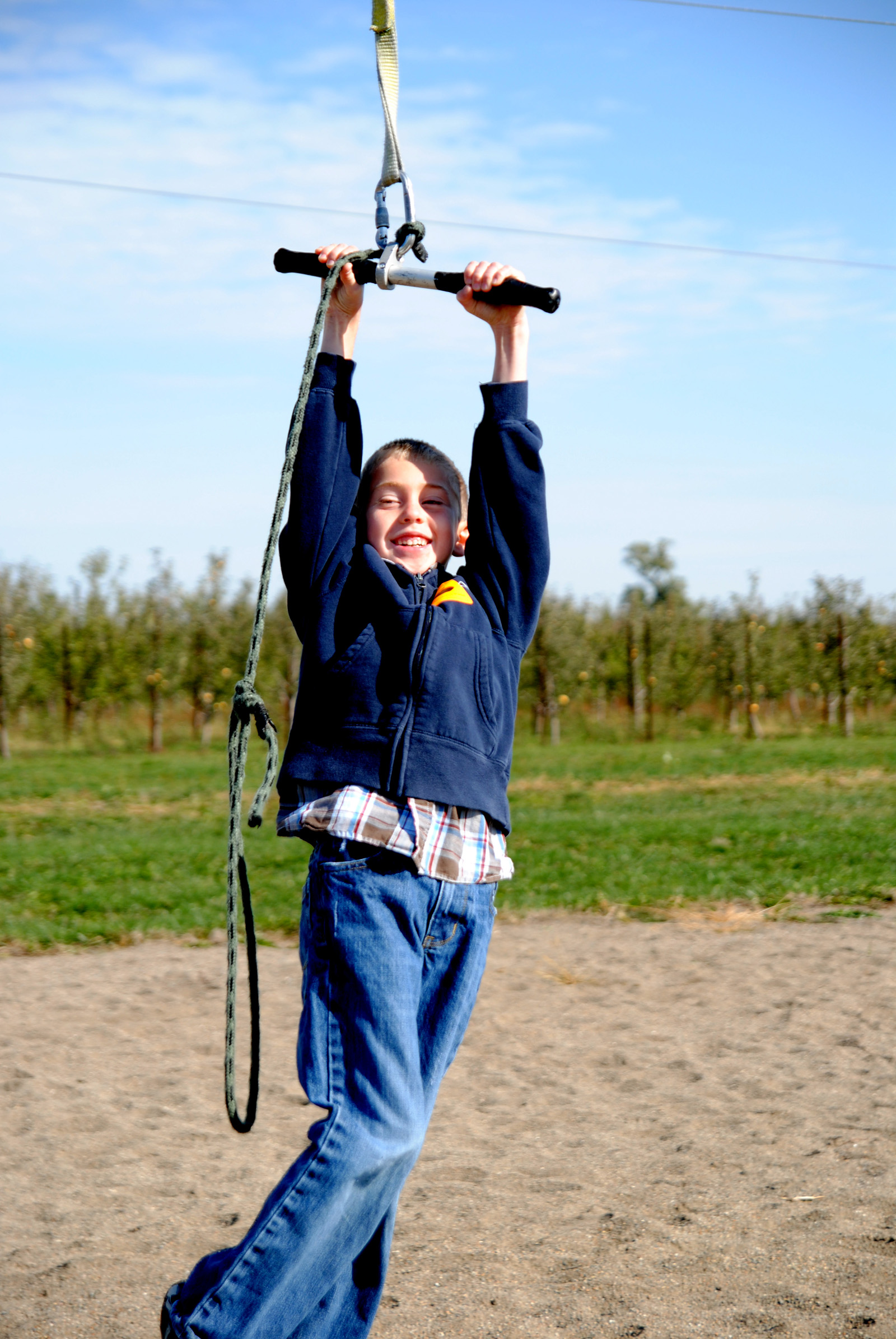 Zip line at Pumpkin Patch at Orchard and Company|Sharon the Moments blog
