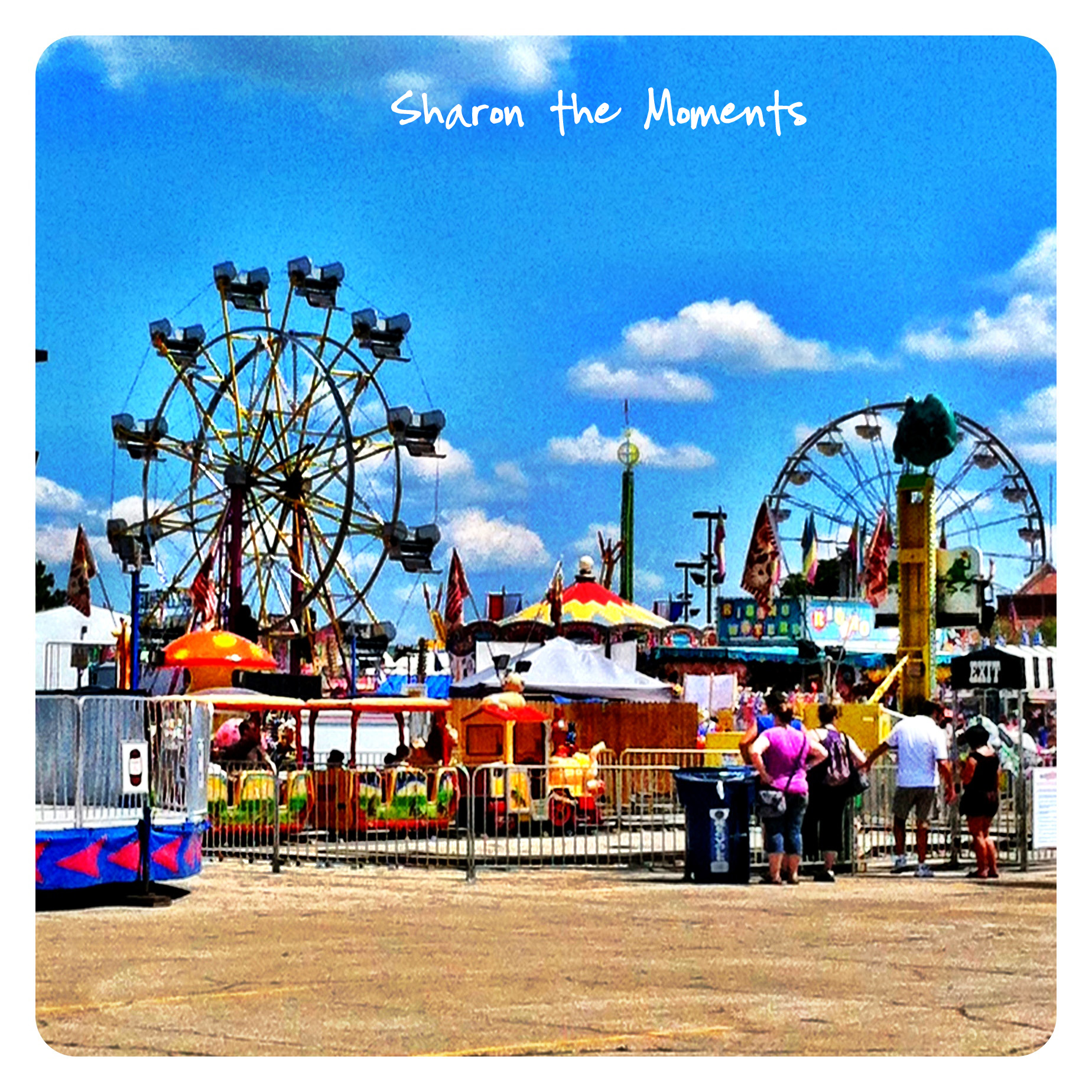 Ohio State Fair Ferris Wheel in the Midway|Sharon the Moments blog