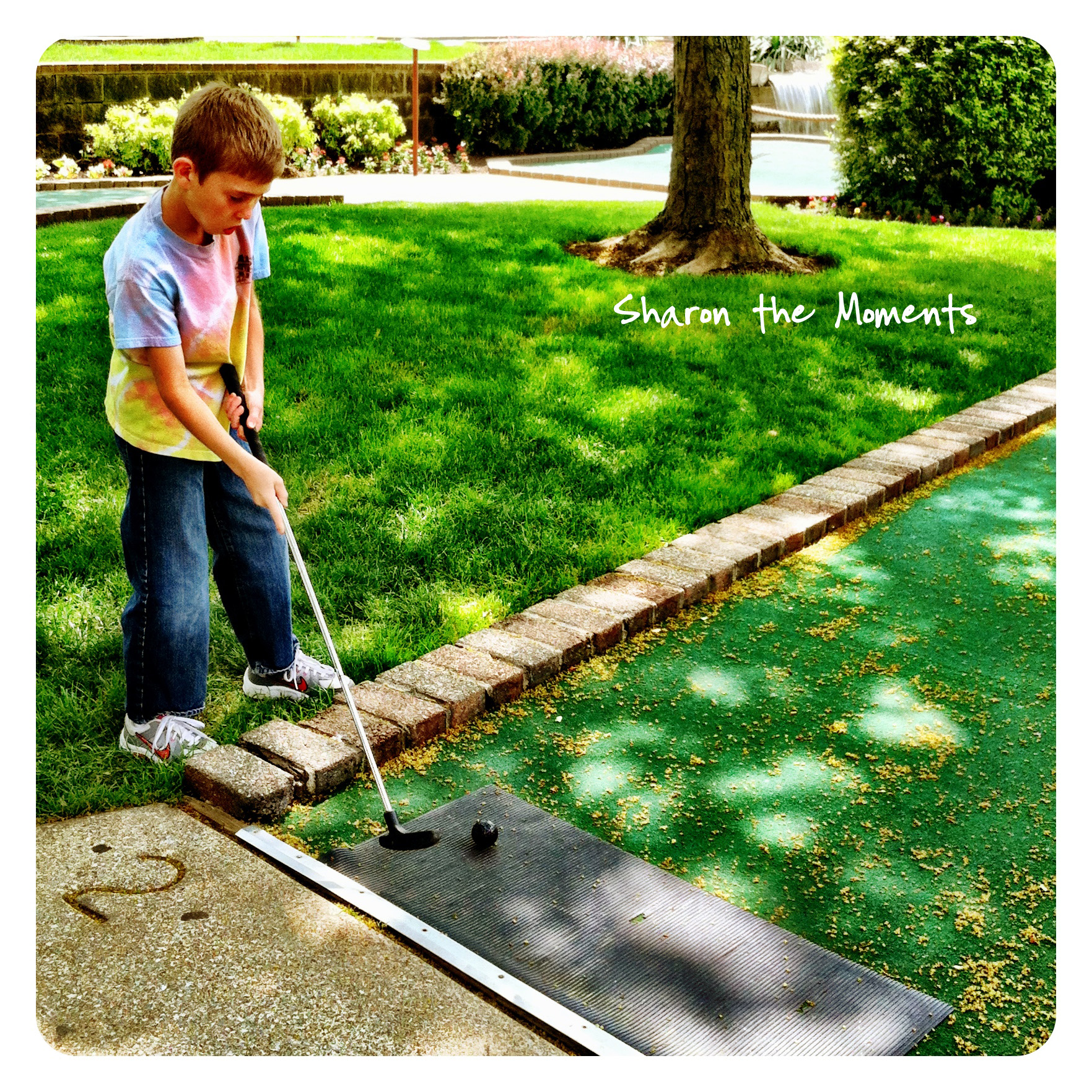 iPhoneography Tuesday is Monday Week Putt Putt Golf|Sharon the Moments blog