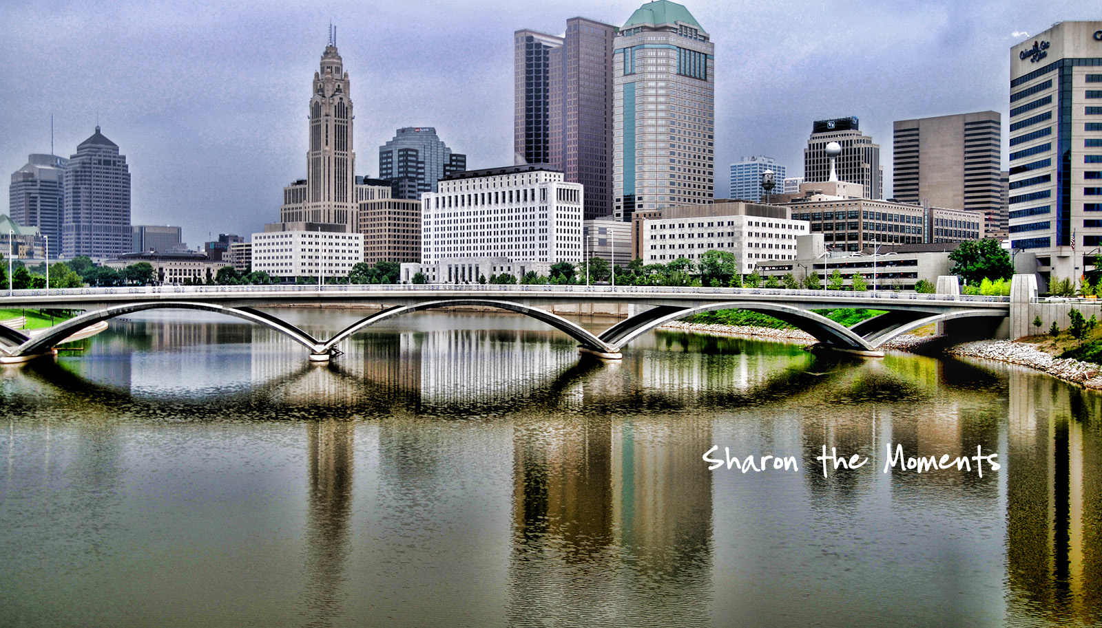 Downtown Columbus Ohio Skyline Color Texture and Emotions|Sharon the Moments blog