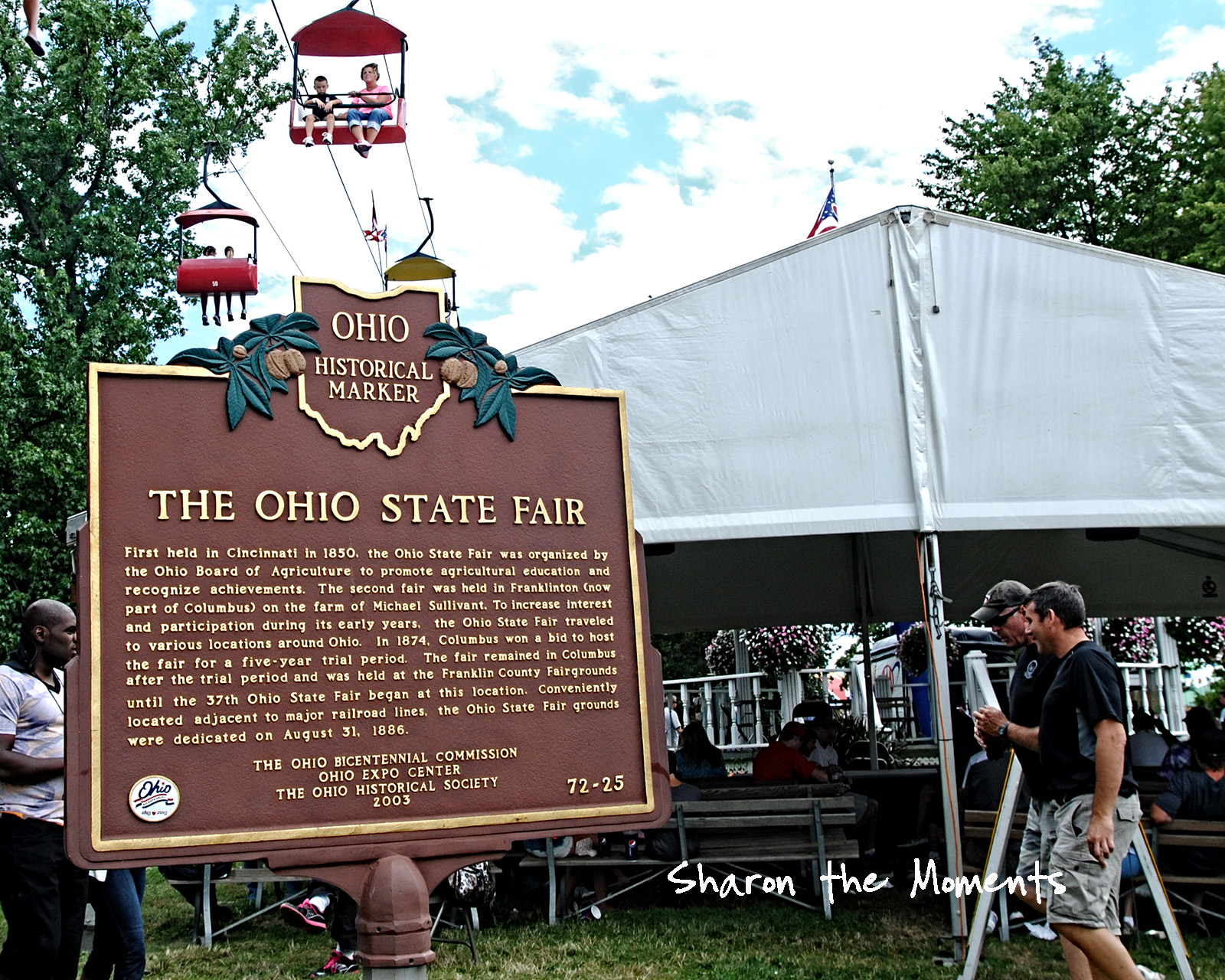 Ohio State Fair Historical Marker Fond Memories|Sharon the Moments blog