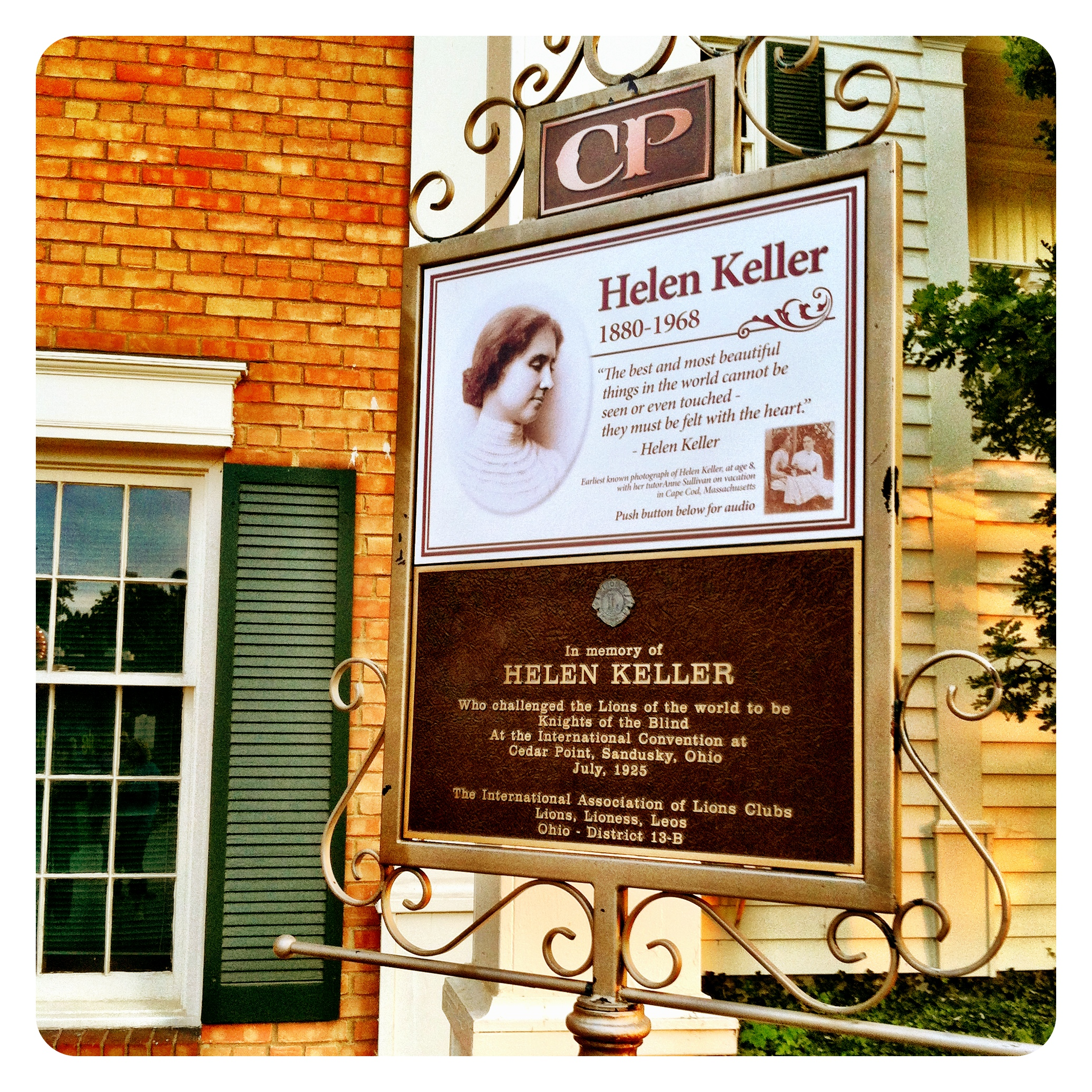 Helen Keller Cedar Point Sandusky Ohio is more than just for Bloggers|Sharon the Moments blog