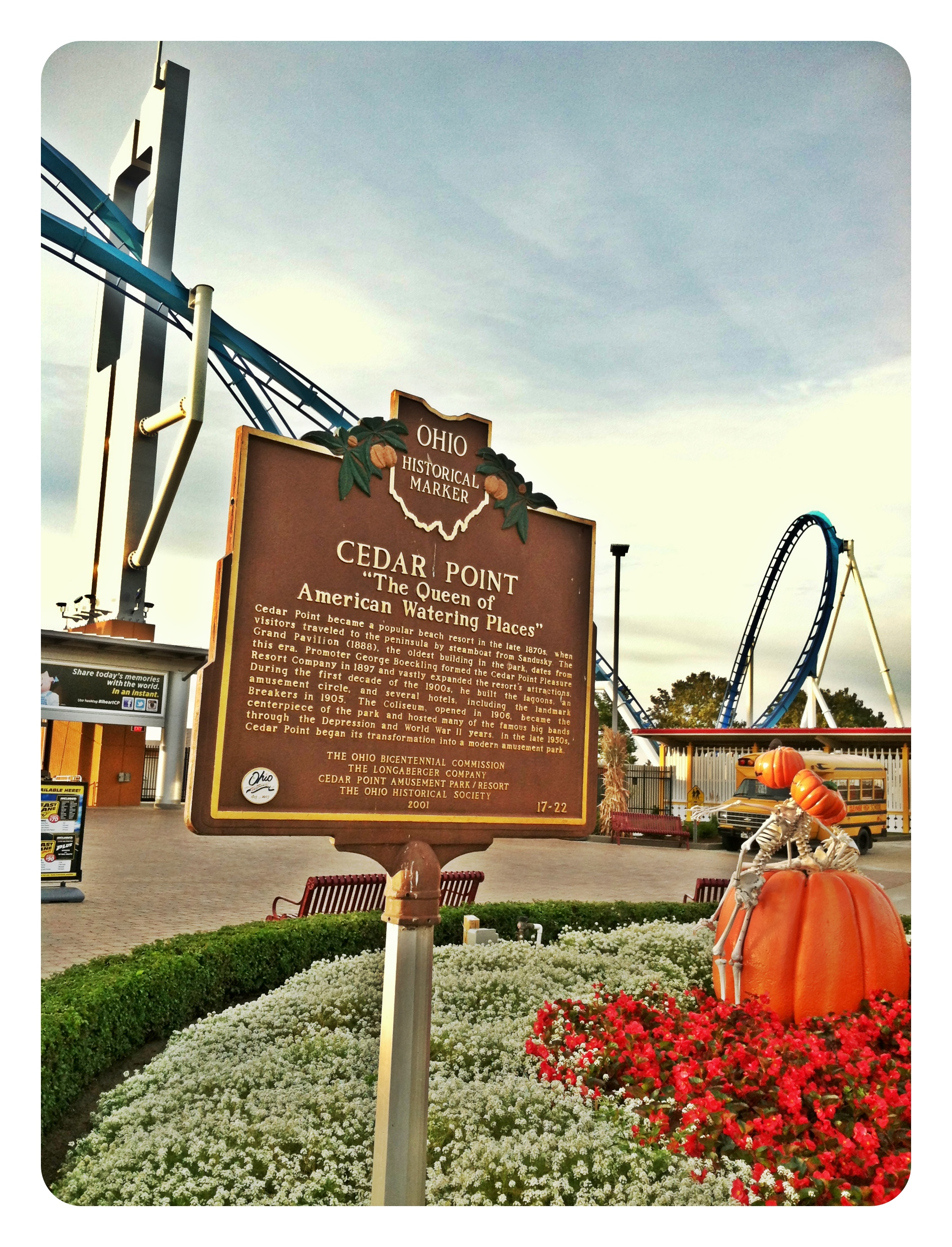 Remarkable Ohio ... Ohio Historical Marker #17-22 Cedar Point|Sharon the Moments blog