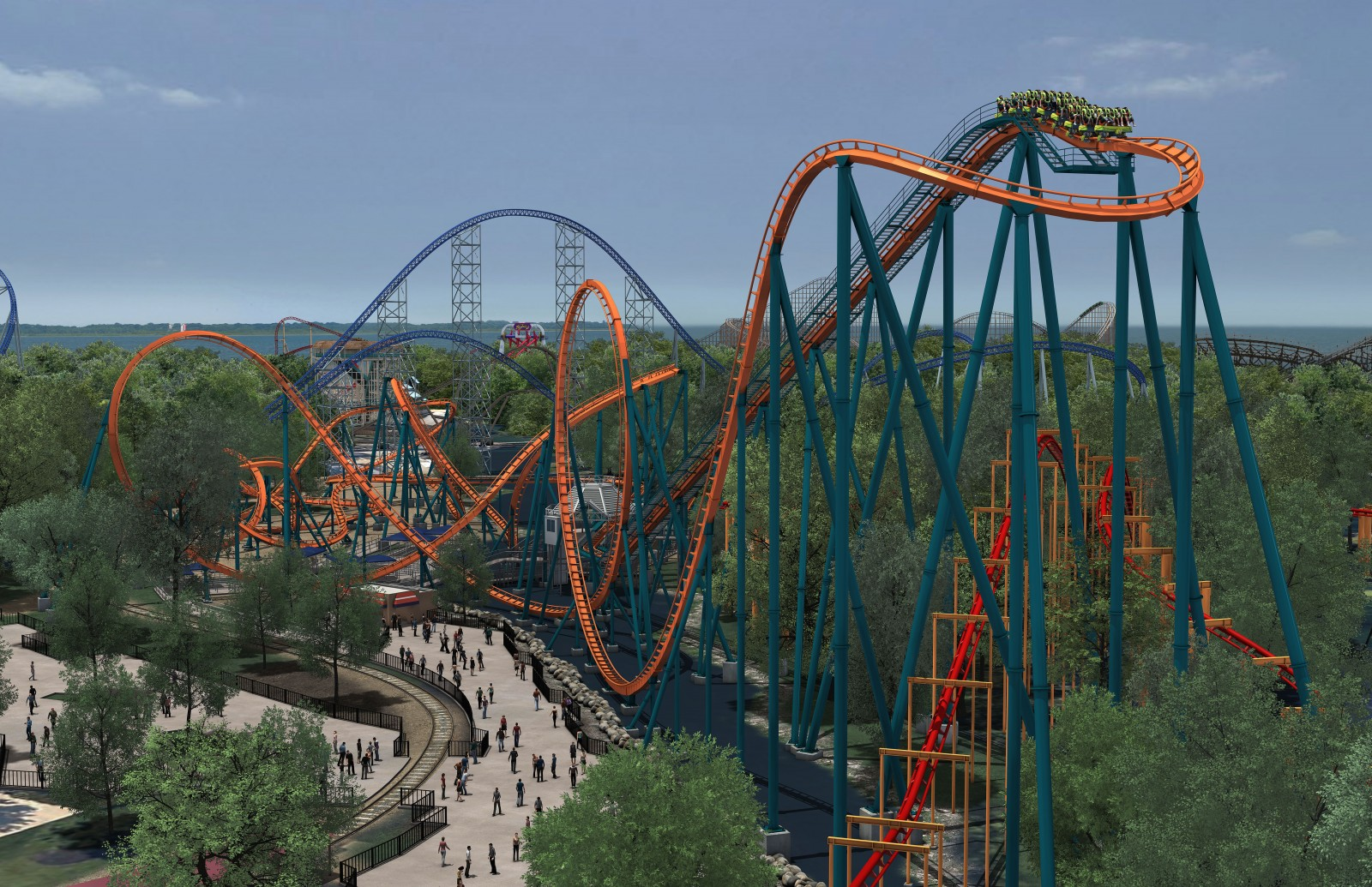 Rougarou First Hill (picture courtesy of Cedar Point)|Sharon the Moments Blog