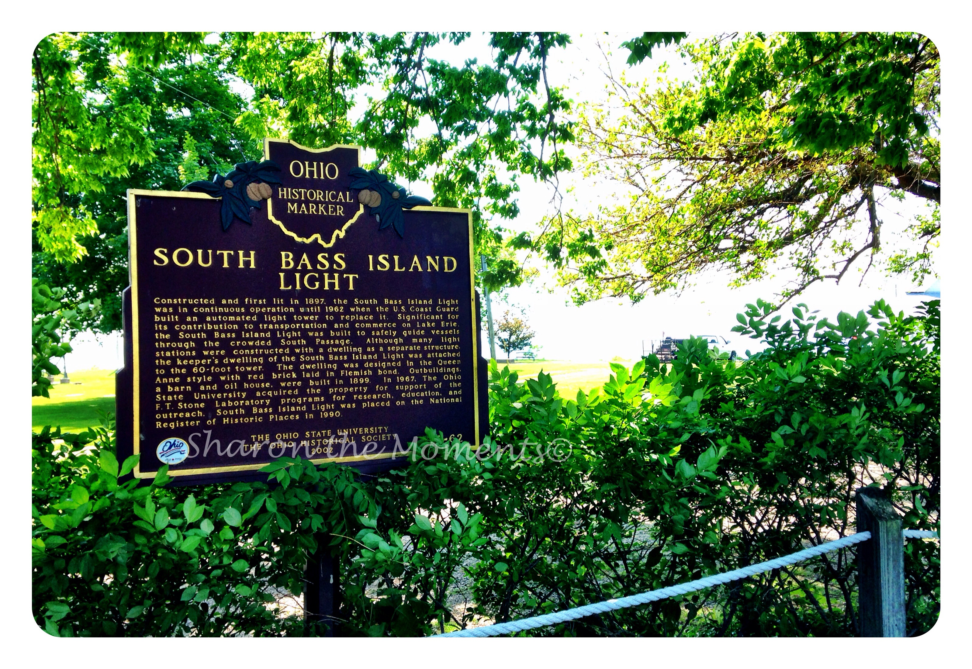 Remarkable Ohio … Ohio Historical Marker #9-62 South Bass Island Light