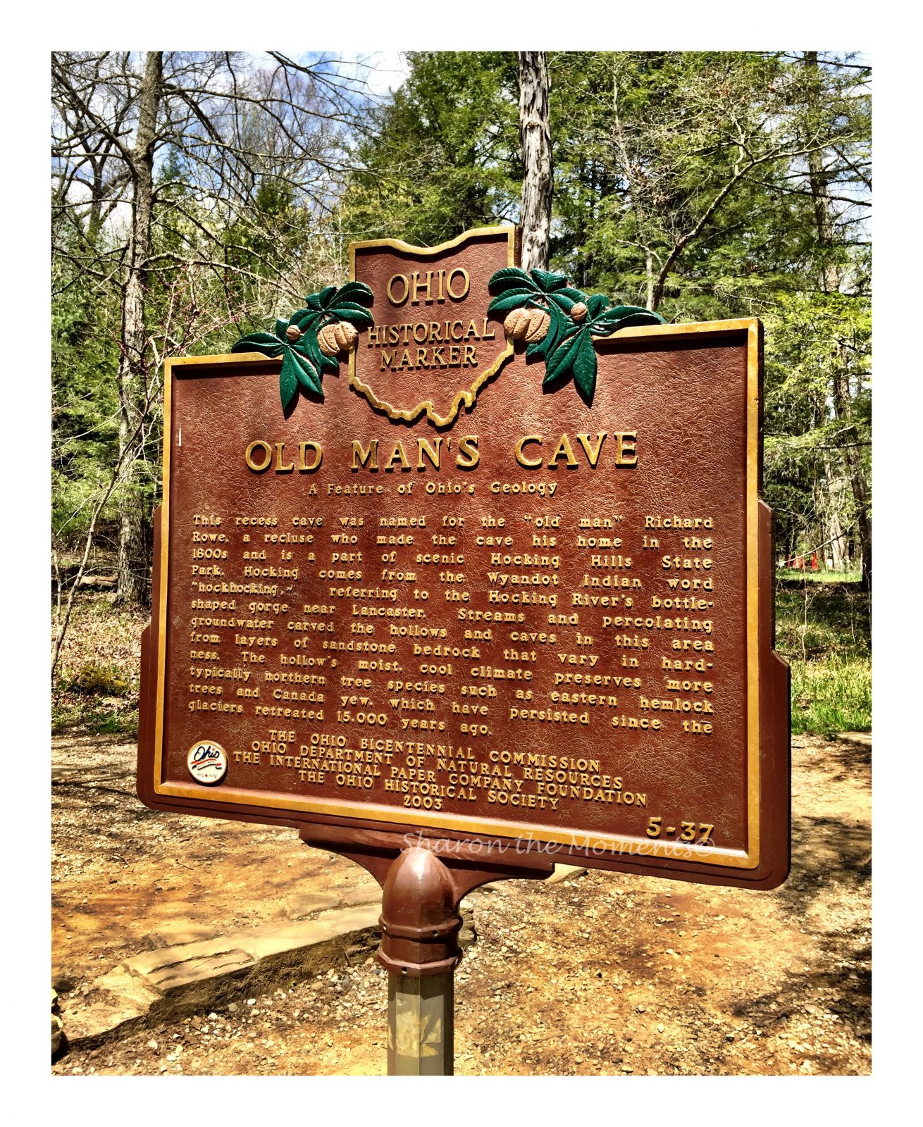 Remarkable Ohio Historical Marker #5-37 Old Man's Cave || Sharon the Moments Blog