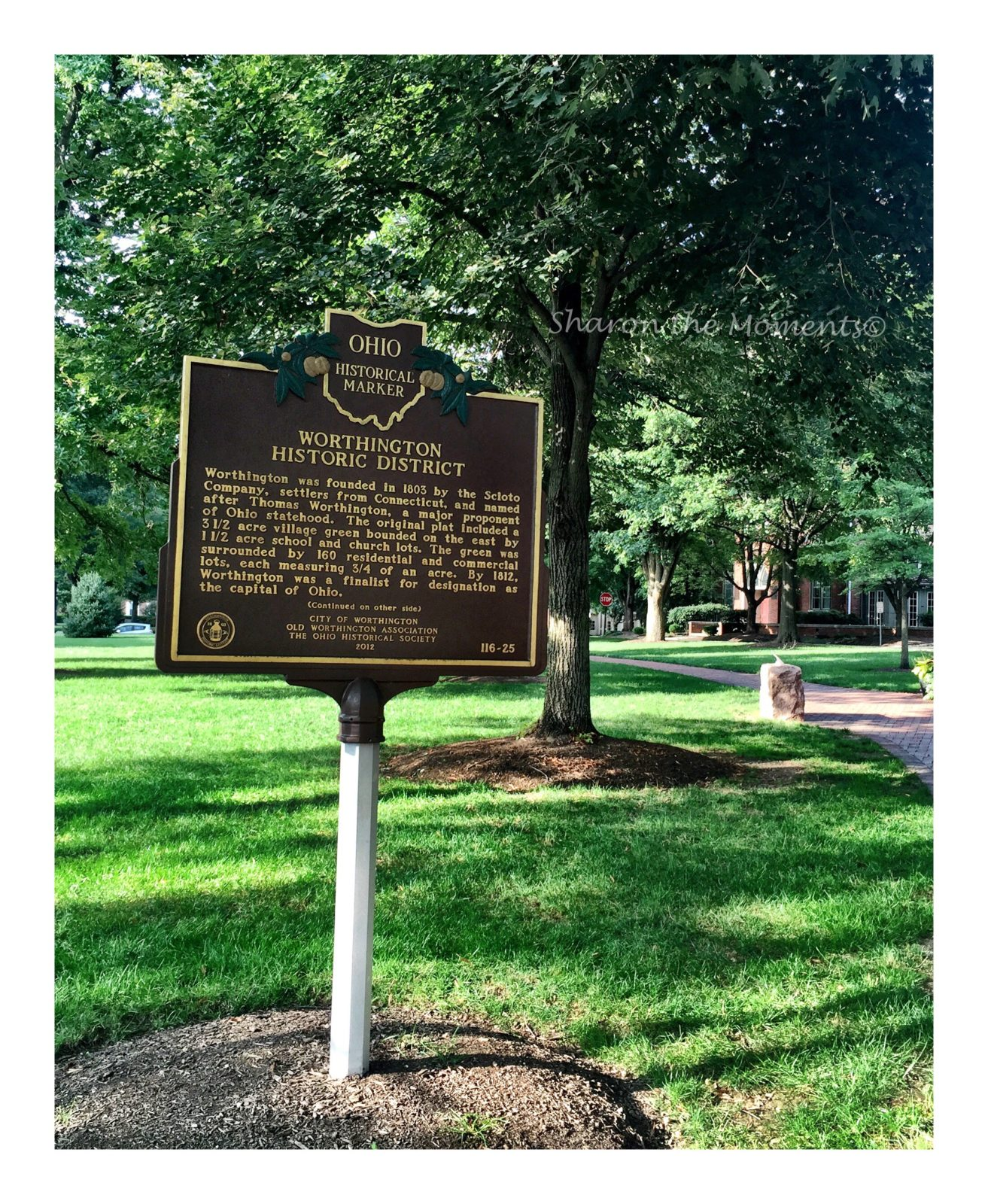 Remarkable Ohio ... Ohio Historical Marker #116-25 Worthington Historic District || Sharon the Moments Blog