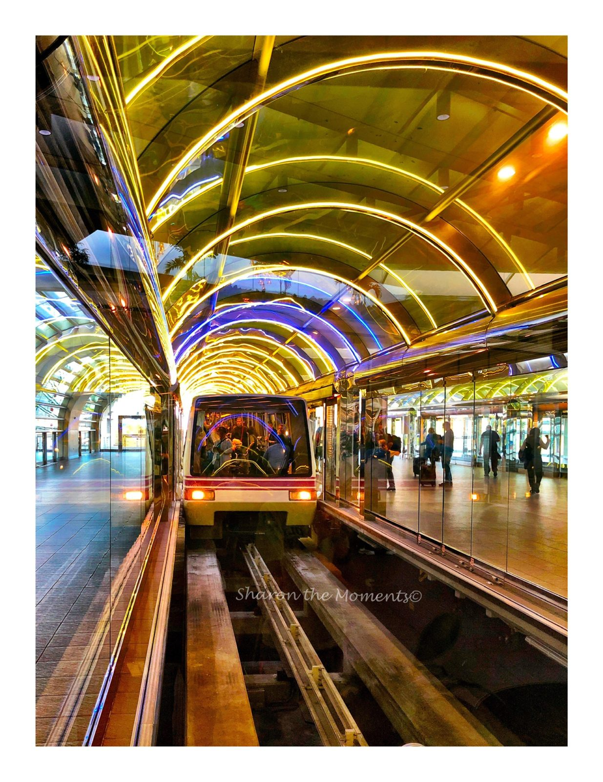 Stunning Lights & Reflections, Orlando Airport || Sharon the Moments Blog